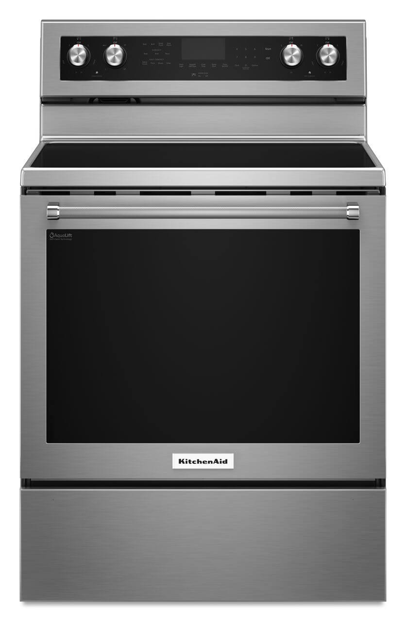 KitchenAid® 30-Inch 5-Element Electric Convection Range - Stainless Steel Product Image